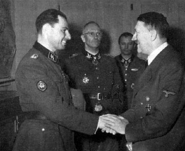 Léon Degrelle con Hitler